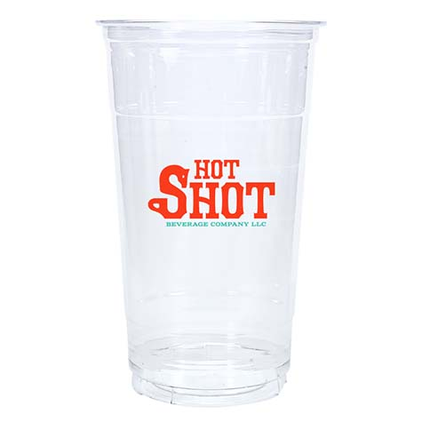32oz Custom Printed Clear PET Cold Cups